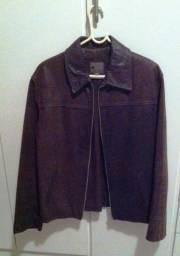 Jaqueta de couro Argentina marca Tascani Marrom Tamanho M, em bom estado