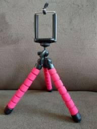 Mini Tripé Universal Flexível Suporte Celular Câmeras Regulável Universal Polvo Apoio Mesa