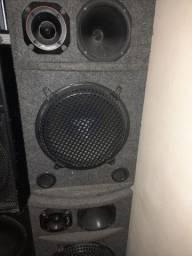 Par de caixas de som fone de 12 550w