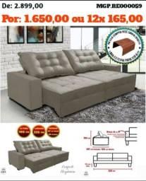 Título do anúncio: Sofa Retratil e Reclinavel 2,25 em Veludo e Molas Ensacada-Sofa Grande-Barato-Saldão MS