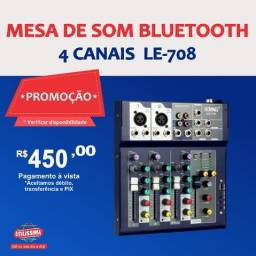 Título do anúncio: Mesa de som Bluetooth 4 canais  LE-708
