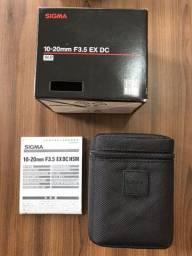 Título do anúncio: Lente Sigma 10-20mm f/3.5 EX Dc DsM Autofoco para Nikon
