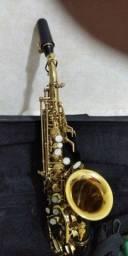 Título do anúncio: Sax soprano curvo aceito trocar em sax tenor
