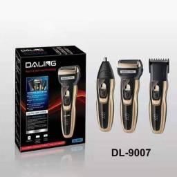 Título do anúncio: Aparelho de raspar a barba, cabelo daling DL-9007 bivolt recarregável<br>