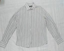 Título do anúncio: Camisa social branca algodão - Marca Request - Tam M