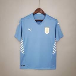Título do anúncio: Camisa Seleção Uruguai - camisas de time Pronta Entrega