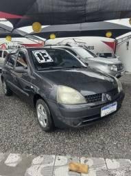 Título do anúncio: Renault Clio Hatch EXPRESSION 1.0  Só vidro elétrico e direção hidráulica