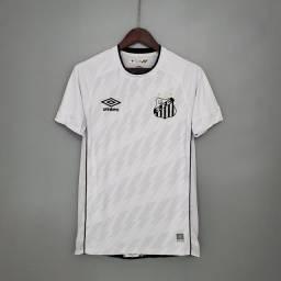 Título do anúncio: Camisa Santos 2021 - Camisas de time futebol a pronta entrega