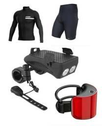 Título do anúncio: Acessorios de Bike Pedal - Camisa, Bermuda, Sinalizador, Farol