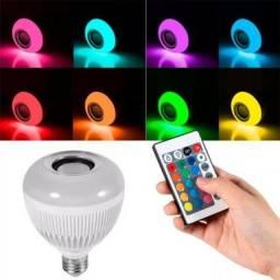 Título do anúncio: Lampada Bluetooth De Led Caixa De Som C Controle Rgb 12W