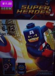 Super heróis bloco de montar similar ao lego