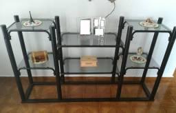 Rack/estante tubular com prateleiras removíveis (desmontável), varias finalidades