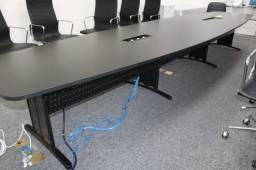 Mesa de Reunião / em MDF Preto 76 cm x  500 cm x  120 cm (Ler observações)