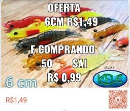 Título do anúncio: RJ02. Camarão Isca Soft