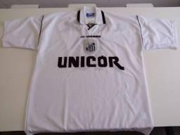 Camisa 10 Santos Futebol Clube Umbro Original 1999 6ab0cebd1cb46
