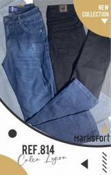 Calças jeans lycra masculina e femenina