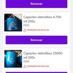 Capacitores eletrolítico 15.000 ou 4.700 MF