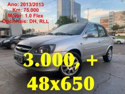 GM : Classic 2013/2013 1.0 Flex ( 75.000 KM ) DH + RLL - A vista ou Parcelado - 2013