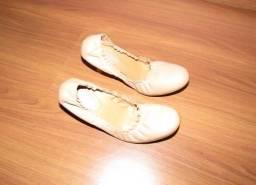 Sapato Creme, Raphaella Booz, Tamanho 37, Usada