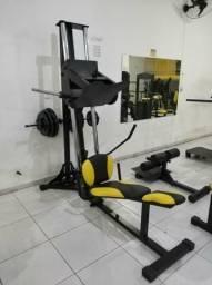 Academia Equipamentos Aparelhos Musculação Anilhas Esteira Movement Barra Livre Catraca