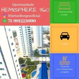 Hemisphere 360°, apartamento Patamares, 4 quartos em 140m², vista mar!