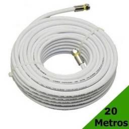 Cabo Coaxial p Antena TV 20 Metros Montado-RG6 Alta Definição C/ Conectores De Compressão comprar usado  Colombo