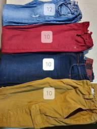 Lote calças adolescente super conservadas