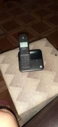 Telefone sem fio Motorola preto