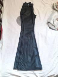 Calça de couro preta