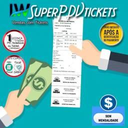 ERP Sistema PDV com emissão de Tickets