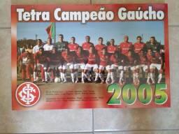 Pôster Sport Club Internacional Tetra Campeão Gaúcho 2005