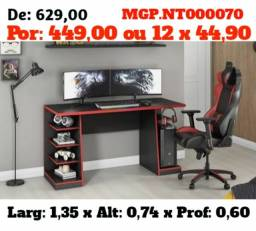 Mesa de Computador Gamer  ou Escrivaninha de Estudo Gamer - Embalado