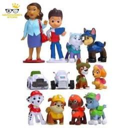 Título do anúncio: Bonecos patrulha canina kit com 12 peças brinquedo miniaturas