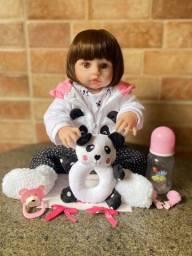 Título do anúncio: Fotos Reais Boneca Bebê Reborn toda em Silicone realista 48cm nova (aceito cartão )