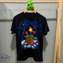 Camisa Pequeno Príncipe - pintada à mão