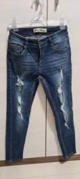 Calça jeans skinny destroyer n.36