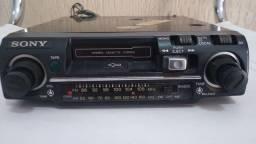 Título do anúncio: Auto rádio toca fitas antigo Sony TC 26 novíssimo