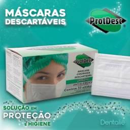 Mascara tripla elástico Protdesc - Branca