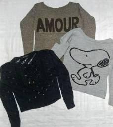 Título do anúncio: Blusas de Lã (P e M)