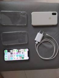 iPhone X 256gb R$2.800,00 bateria 80%