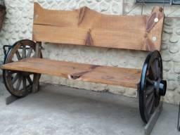 Título do anúncio: banco rústico roda carroça