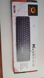 Kit Teclado com fio + Mouse com fio + Mousepad Promoção [Entrega]