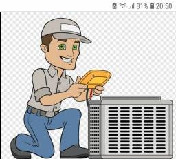 Higienização de AR condicionador e refrigeração