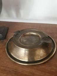 Cinzero metal antigo 20
