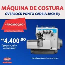 Título do anúncio: Máquina de Costura Industrial Overlock Ponto Cadeia E3 Jack