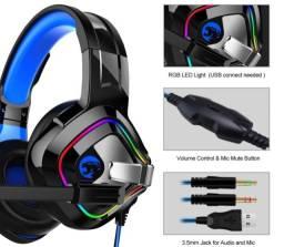 Fone Game RGB Microfone para Jogos PC Game Ps4 Xbox One Celular [Novo]