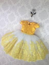 Vestido da princesa da Bela e a Fera