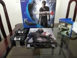 PS4 Slim 1TB +2 controles + 1 jogo