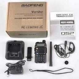 Rádio Ht Baofeng Dual Band Uv-5r + Antena Nagoya 771