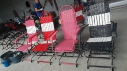Cadeira de embalo e de mola